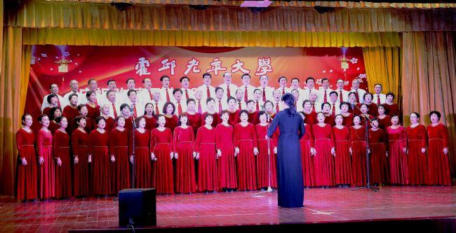 声乐班大合唱《新时代进行曲》,《共筑中国梦》